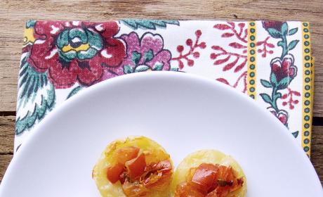 Upside Down Tomato Basil Tartlets Pic