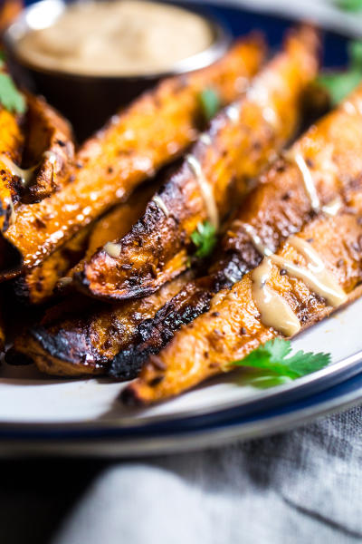 Maple Tahini Grilled Sweet Potatoes Picture