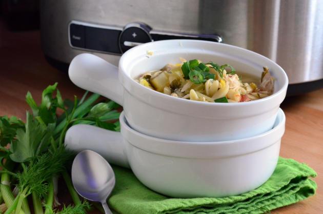 Lemon Chicken Orzo Soup Photo