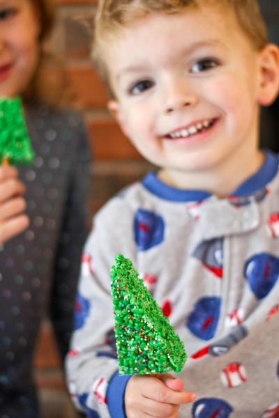 Christmas Tree Rice Krispie Treats Pic