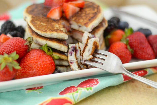 Gluten Free Pancakes with Berries Image