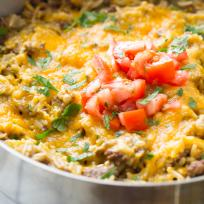 Easy Cheeseburger Skillet Recipe