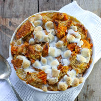 Bourbon Sweet Potato Bread Pudding Recipe