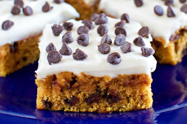 Pumpkin Bars with Cream Cheese Frosting Photo