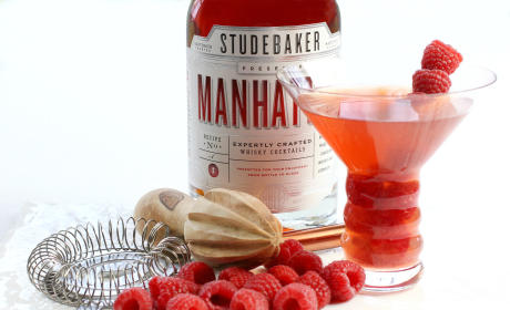 Raspberry Manhattan