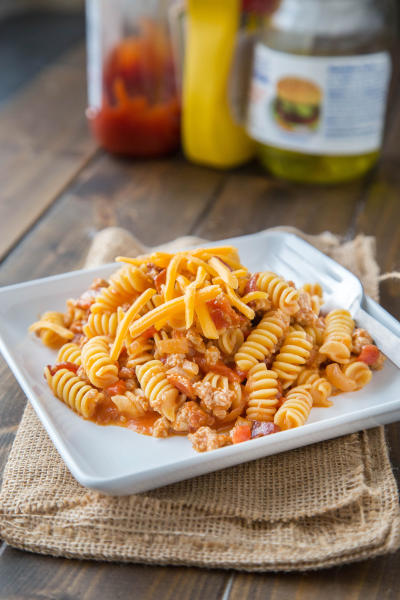Bacon Cheeseburger Pasta Skillet Picture