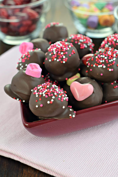 Chocolate Covered Cherry Truffles Picture