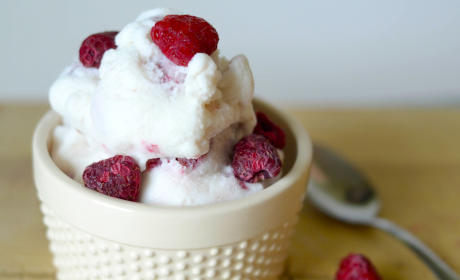 Gluten Free Raspberry Vanilla Ice Cream