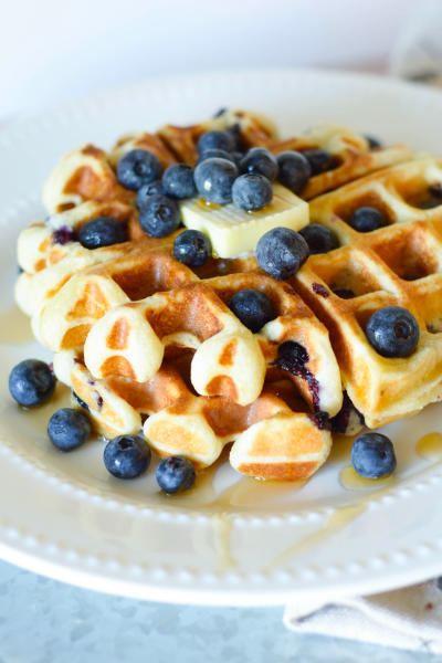 Gluten Free Blueberry Waffles Picture