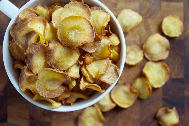 Baked Parsnip Chips Photo