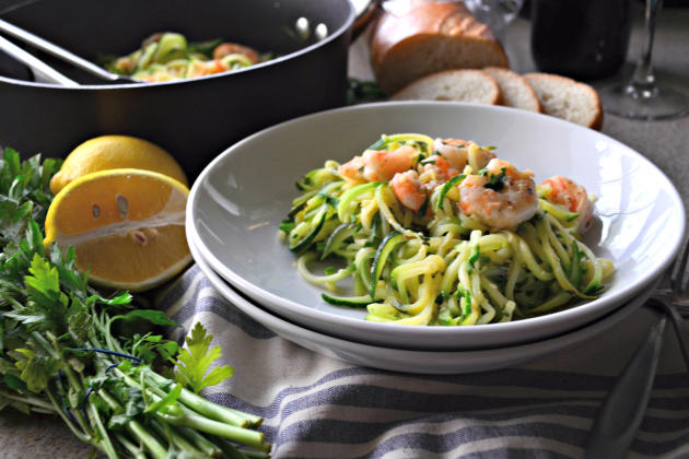 One Pot Zoodle Shrimp Scampi Pic