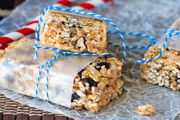 Oatmeal Raisin No Bake Granola Bars Photo