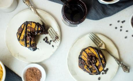 Vegan Cookie Dough Brownie Pancakes
