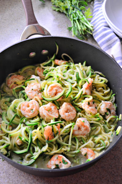 One Pot Zoodle Shrimp Scampi Picture
