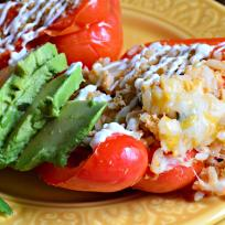Slow Cooker Shredded Chicken Taco Stuffed Peppers Recipe
