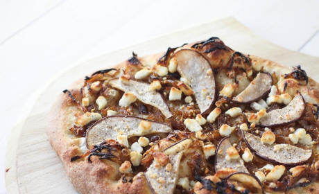 Goat Cheese Pizza: With Pear Caramelized Onion