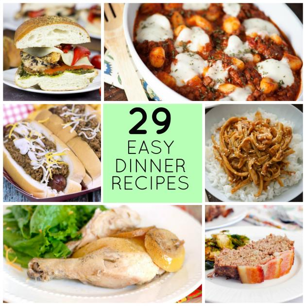 29 easy recipes for dinner tonight food fanatic