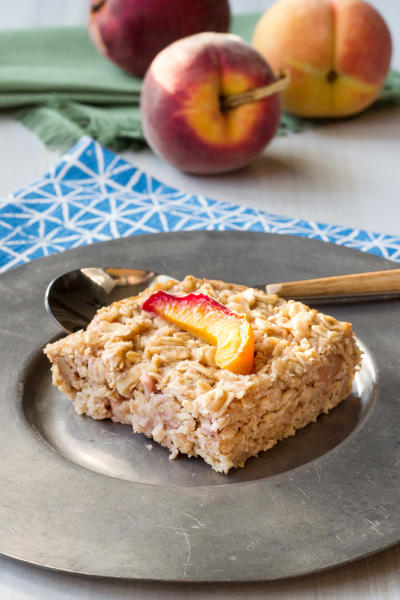 Baked Peach Oatmeal Picture