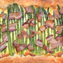 Asparagus Tart with Bacon Recipe