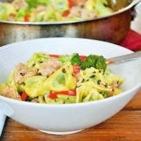 Sausage Broccoli Tortellini Skillet Recipe
