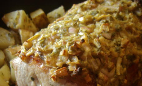 Pork Tenderloin: Easy and Quick Roast with Shallots, Mustard and Herbs
