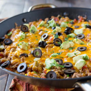 Mexican Rice Skillet Recipe Dinners, Dishes, and Desserts