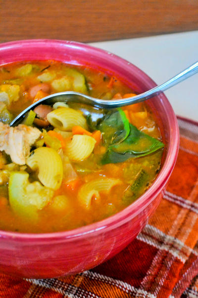 Chicken Minestrone Soup Picture