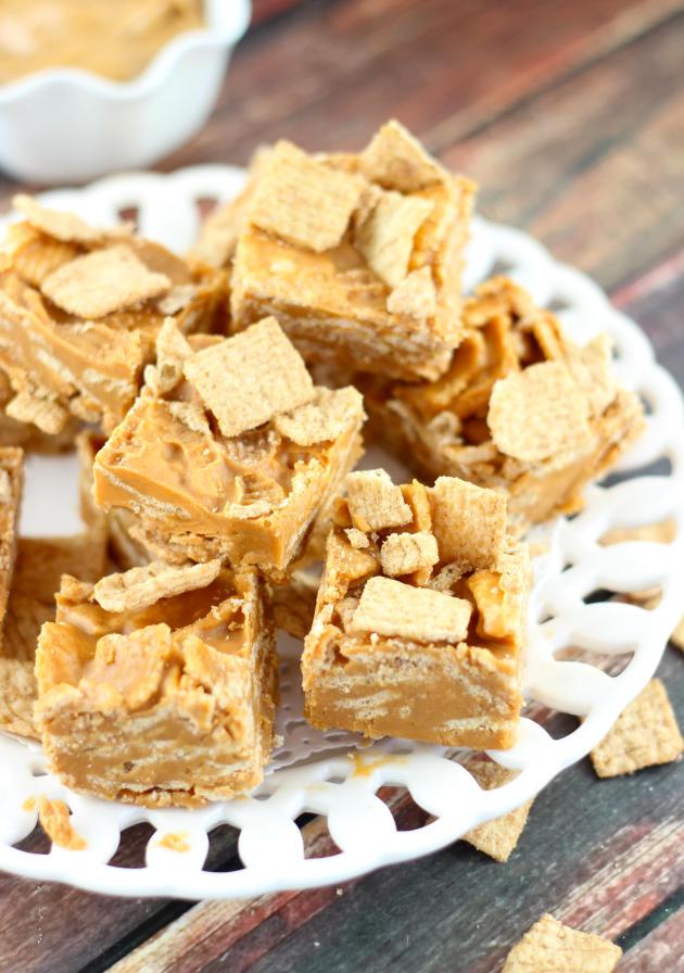 Peanut Butter Cinnamon Toast Crunch Fudge Image - Food Fanatic