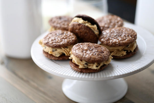 Peanut Butter Chocolate Sandwich Cookies Photo