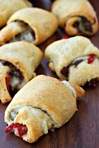 Philly Cheesesteak Crescent Rolls Pic