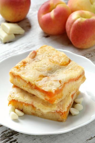 Gluten Free Apricot White Chocolate Blondies Picture