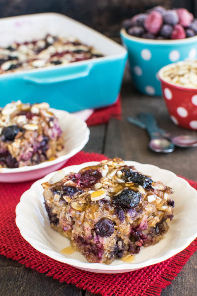 Almond Berry Baked Oatmeal Image
