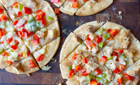 Chicken Fajita Flatbread Recipe