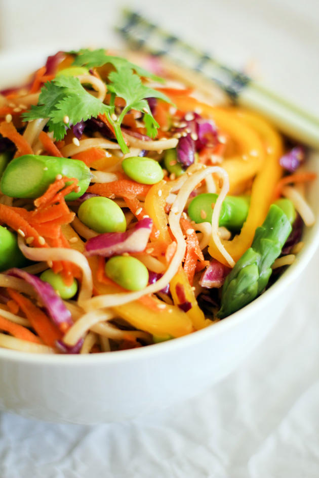 spring vegetable pad thai image  food fanatic
