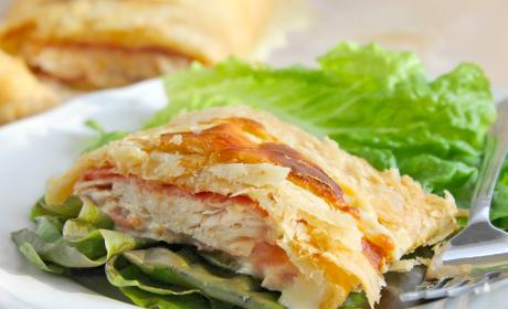 Puff Pastry Chicken Cordon Bleu Recipe