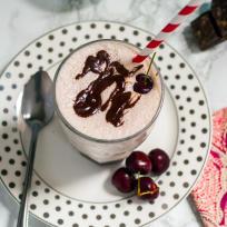 Cherry Bourbon Vanilla Milkshakes Recipe