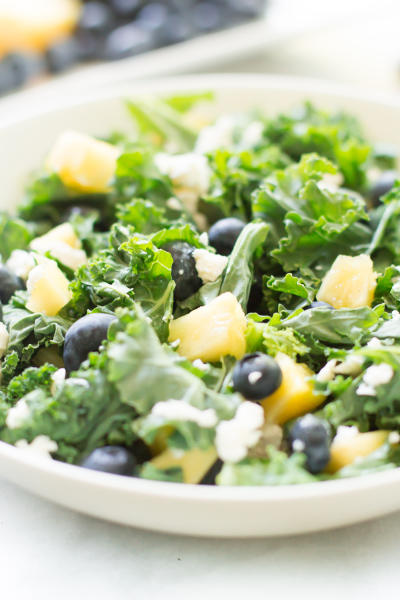 Kale Blueberry Pineapple Salad Image