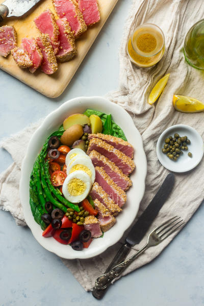 Asian Nicoise Salad Pic