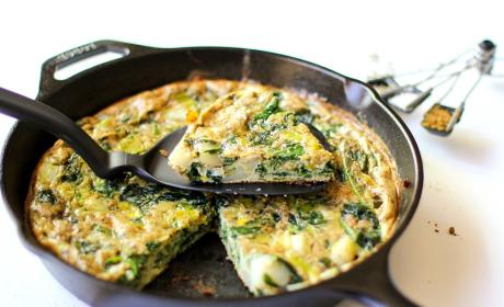 Spinach Leek Potato Frittata