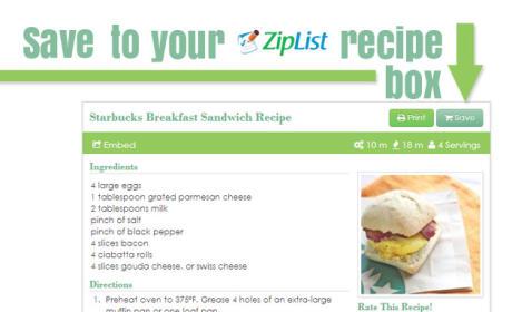 New to Food Fanatic: Ziplist Recipe Box