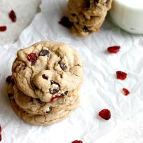 Dark Chocolate Cranberry Cookies Recipe