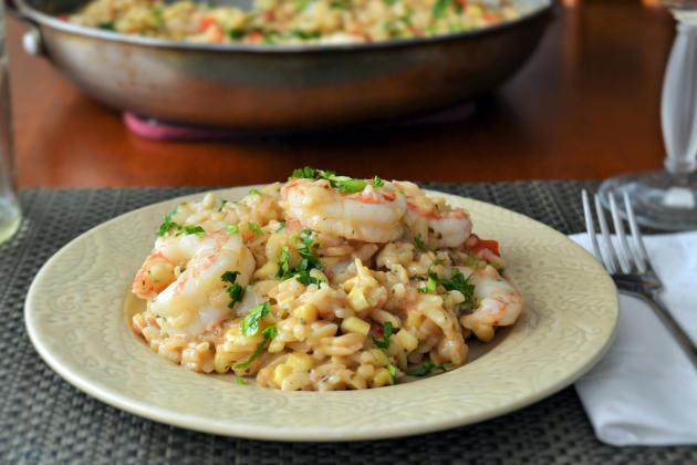 Shrimp Orzo Risotto - Food Fanatic