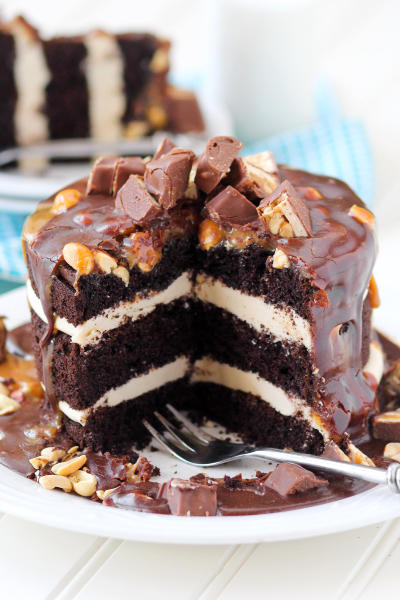 Snickers Layer Cake Picture