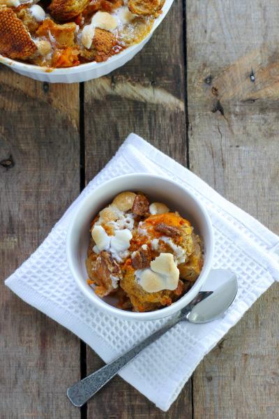 Bourbon Sweet Potato Bread Pudding Picture