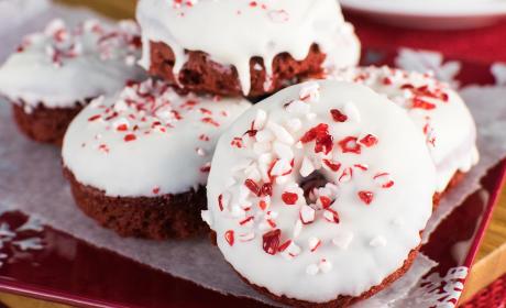 Red Velvet Peppermint Donuts Recipe
