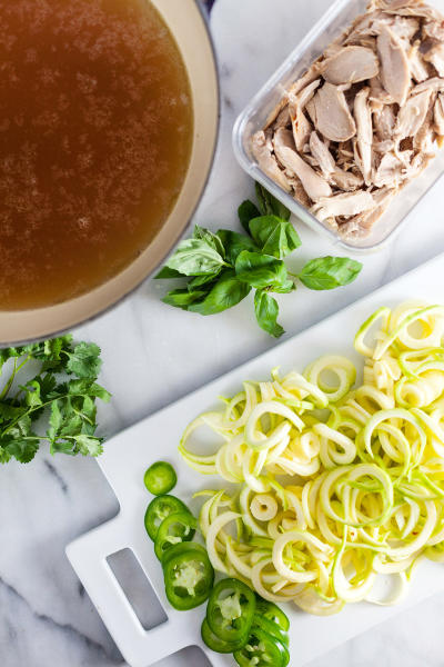 Thai Chicken Soup with Zucchini Noodles Picture