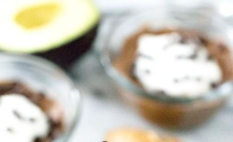 Chocolate Avocado Pudding with Coconut and Peanut Butter Pic