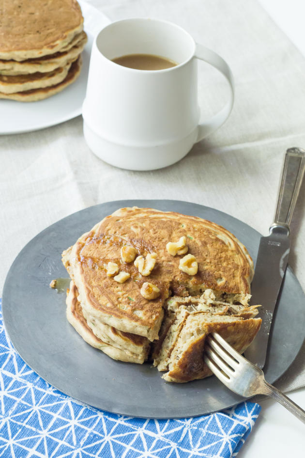 Zucchini Bread Pancakes - Food Fanatic