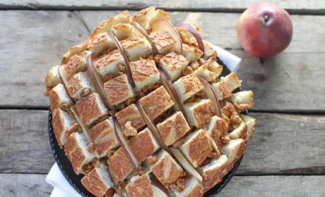 Brie, Pear & Walnut Pull Apart Bread Recipe