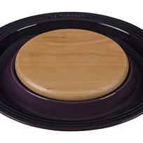 Le Creuset Round Platter with Cutting Board